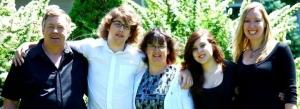 The MacDonald family: Joe, Nathan, Michele, Natasha, and Laura.