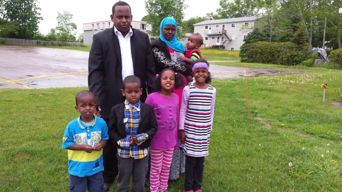 Khadar and and his family.