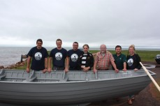 Members of the Ice Boat Committee, and the Holland College gang